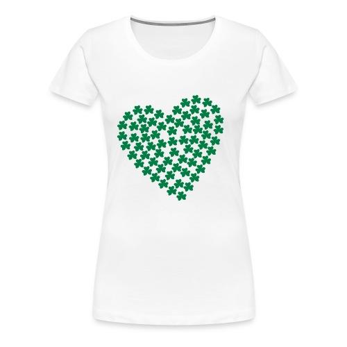 Shamrock Girlie Shirt in White - Women's Premium T-Shirt