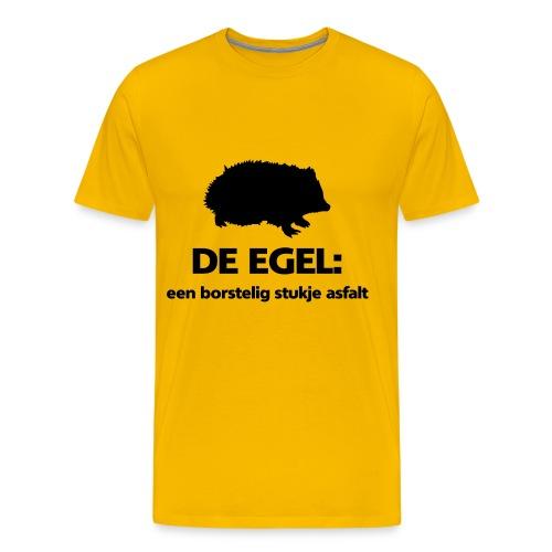 Funny shirt Egel: borstelig stukje asfalt - Mannen Premium T-shirt