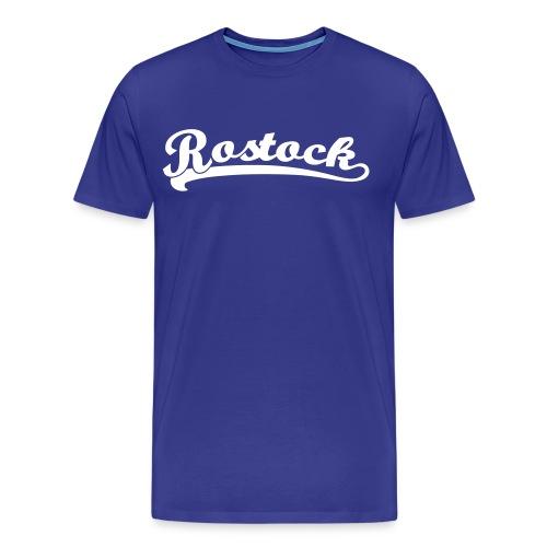 Rostock Retro Schrift T-Shirt  - Männer Premium T-Shirt