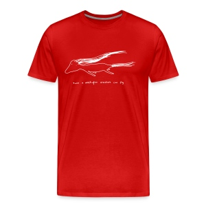 Creature Can Fly (white ink) - Men's Premium T-Shirt