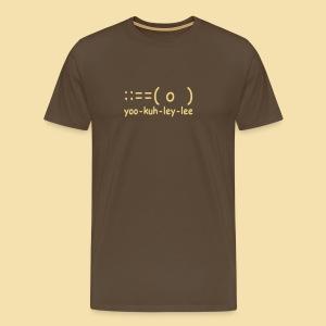 Menshirt: yoo-kuh-ley-lee (Motiv: beige) - Männer Premium T-Shirt