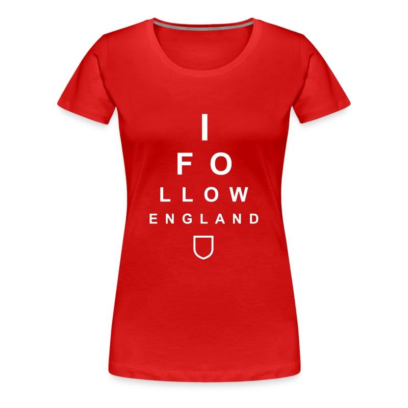 I Follow England - Eye Test (White - Women's) - Women's Premium T-Shirt