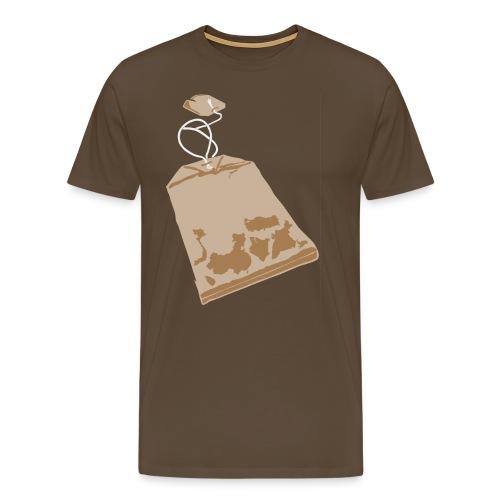 Teabag on color - Men's Premium T-Shirt