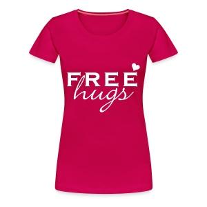 Free Hugs (WitteTekst) - Vrouwen Premium T-shirt