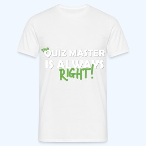 The Quiz Master is always right T-Shirt in Beige - Men's T-Shirt