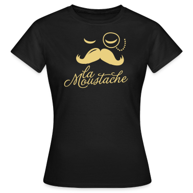 La Moustache Typography T-Shirts