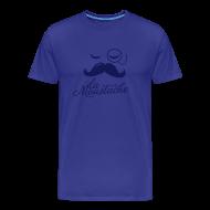 T-Shirts ~ Men's Premium T-Shirt ~ La Moustache Typography T-shirts