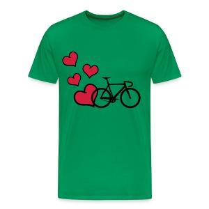 I LOve Rennrad - Bicycle-  Cycling - Männer Premium T-Shirt