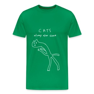 Cats. Always After Cheese - Men's Premium T-Shirt