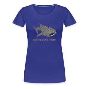 tiershirt walhai wal hai fisch whale shark taucher tauchen diver diving naturschutz endangered species - Frauen Premium T-Shirt