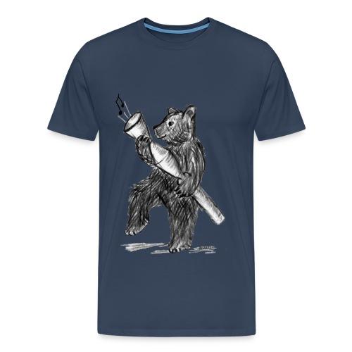 Bär mit Pfeife  - Männer Premium T-Shirt