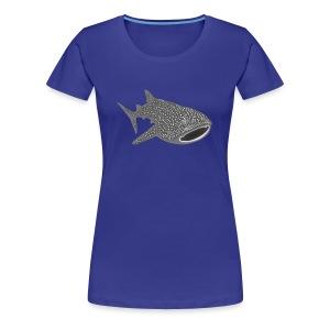 tiershirt walhai wal hai fisch whale shark taucher tauchen diver diving naturschutz endangered species - Frauen Premium T-Shirt
