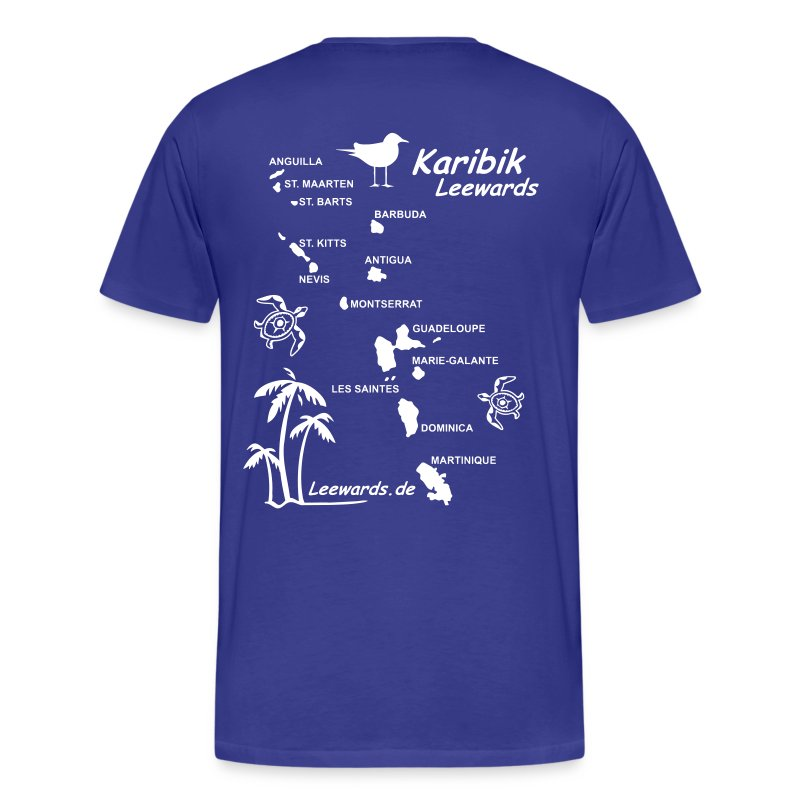 Karibik Leewards Herrenshirt T-Shirt - Männer Premium T-Shirt