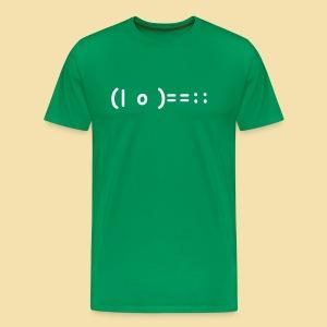 XL Menshirt: (| o )==:: Motiv: weiss - Männer Premium T-Shirt