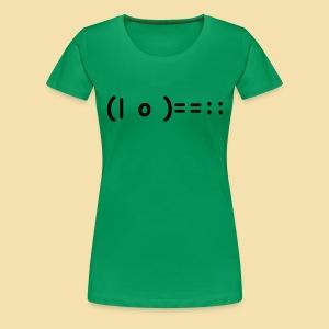 XL Girlshirt: (| o )==:: Motiv schwarz - Frauen Premium T-Shirt