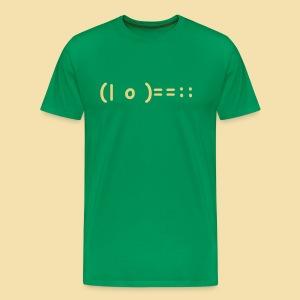 XL Menshirt: (| o )==:: Motiv beige - Männer Premium T-Shirt