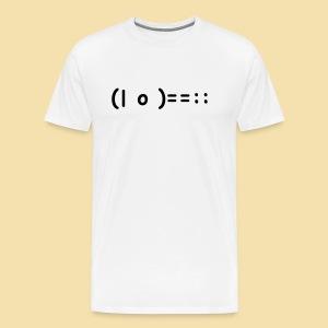 XL Menshirt: (| o )==:: Motiv: schwarz - Männer Premium T-Shirt
