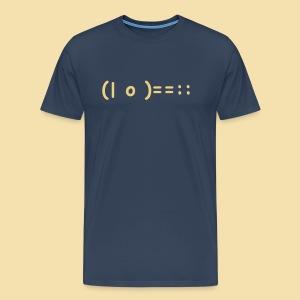 XL Menshirt: (| o )==:: Motiv: beige - Männer Premium T-Shirt
