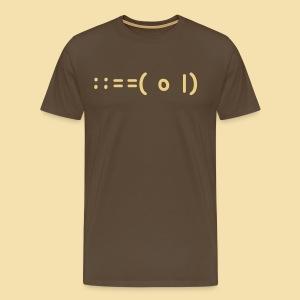 Menshirt: ::==( o |) Motiv: beige - Männer Premium T-Shirt