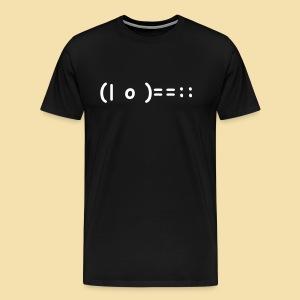 XL Menshirt: (| o )==:: Motiv weiß - Männer Premium T-Shirt