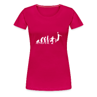 Women's Premium T-Shirt with design Basketball Evolution