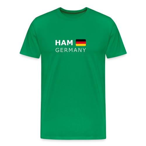Classic T-Shirt HAM GERMANY GF white-lettered - Men's Premium T-Shirt