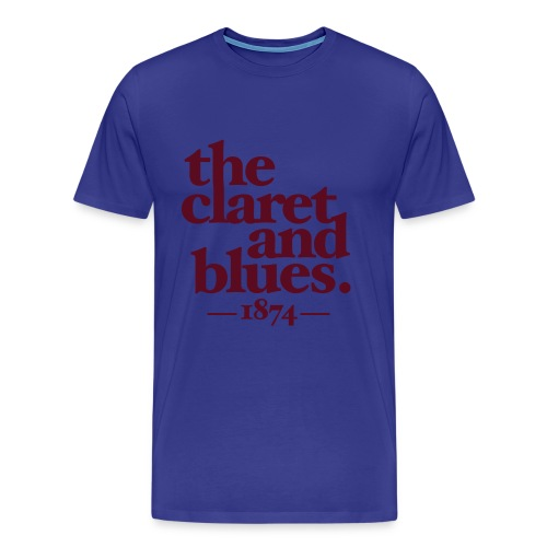 CLARET & BLUES - BLUE/CLARET - Men's Premium T-Shirt
