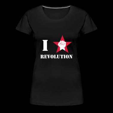 I love / I heart Revolution / Faust zum Gruße roter Stern T-Shirts