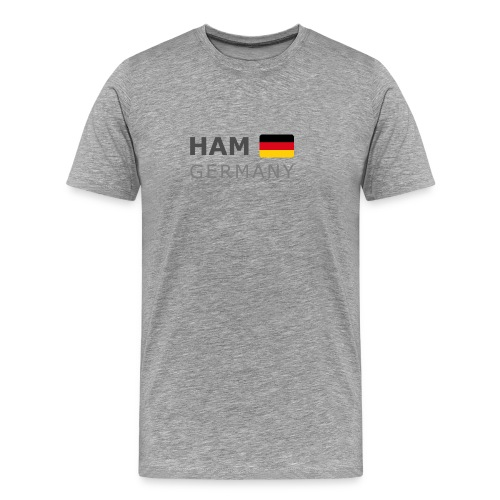 Classic T-Shirt HAM GERMANY GF dark-lettered - Men's Premium T-Shirt