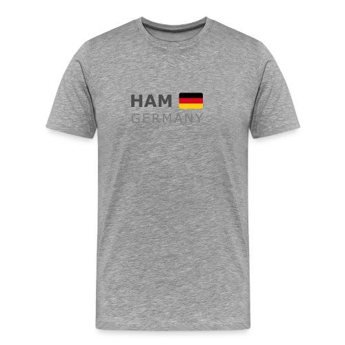 Classic T-Shirt HAM GERMANY GF dark-lettered - Men's Premium T-Shirt