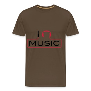 i headphone music - Mannen Premium T-shirt