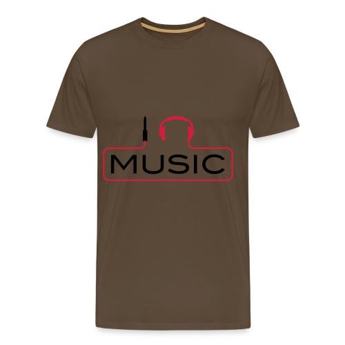 i headphone music - Mannen Premium T-shirt