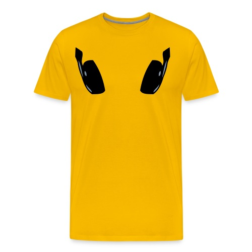 head phones - Mannen Premium T-shirt