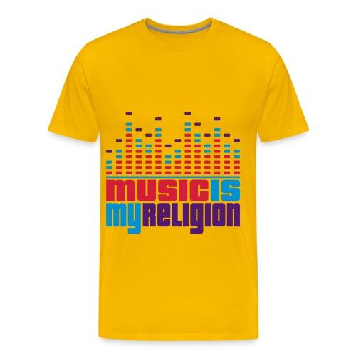 music is my religon - Mannen Premium T-shirt