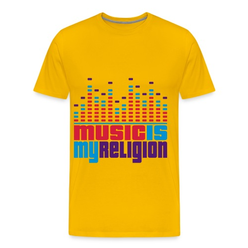 music is my religon - Mannen Premium T-shirt