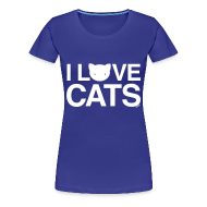 T-Shirts ~ Women's Premium T-Shirt ~ I Love Cats