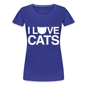 I Love Cats - Women's Premium T-Shirt