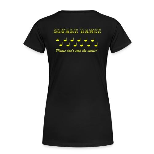 Please don't stop the music_gelb - Frauen Premium T-Shirt