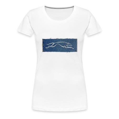 Lévrier stylisé. D'Jin - T-shirt Premium Femme
