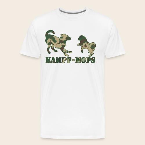 Männer T-Shirt Kampf-Mops XXL - Männer Premium T-Shirt