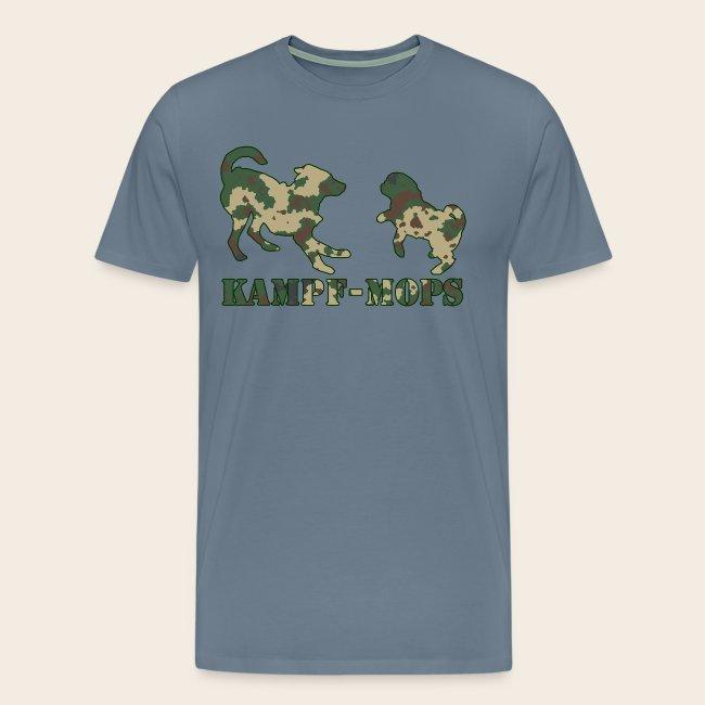 Männer T-Shirt Kampf-Mops XXL