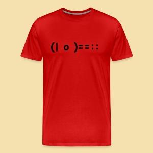 XL Menshirt: (| o )==:: Motiv schwarz - Männer Premium T-Shirt