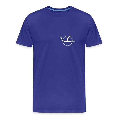 T-Shirt Basic Logo white f/b - Männer Premium T-Shirt