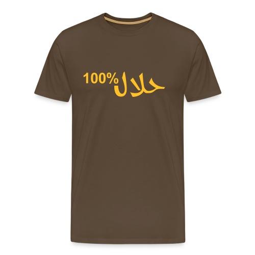 Shirt - 100% Halal - Mannen Premium T-shirt