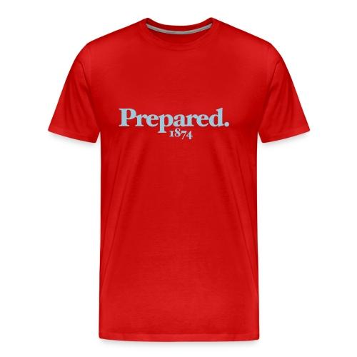 PREPARED 1874 - CLARET/BLUE - Men's Premium T-Shirt