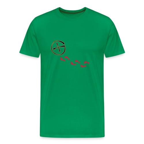 Geo fodspor t-shirt - Herre premium T-shirt