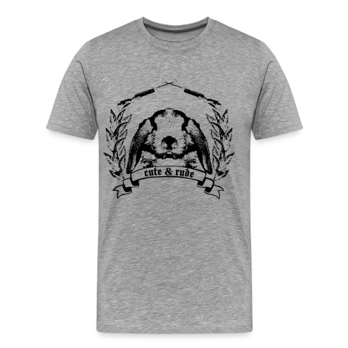 cute and rude - Men's Premium T-Shirt