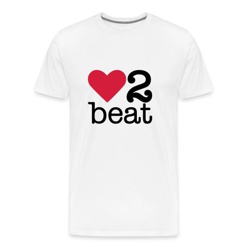 Mannen Premium T-shirt - Heart2Beat shirt van team Isabelle, team rood. The ultimate dance battle!
