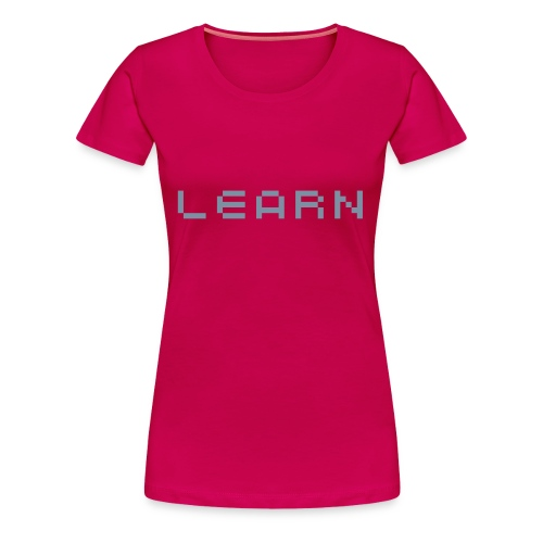 LEARN - Pixel - Women's Premium T-Shirt
