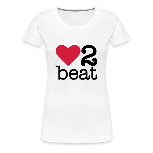 Vrouwen Premium T-shirt - Heart2Beat shirt van team Isabelle, team rood. The ultimate dance battle!